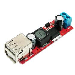 Dual USB DC-DC Buck 3A Vin...